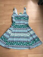 BNWT Ladies Girls H&M Aztec Print Sleeveless Jersey Dress - Size 8
