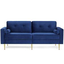 3-Sitzer Sofa, Couch für Wohnzimmer Funktionssofa Schlafsofa Bezug aus Samt Blau