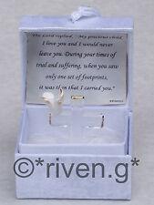 CRUCIFIX@FOOTPRINTS@Gift Box@Glass@Card Verse@PEACE DOVE@inspirational keepsake