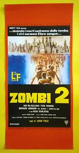 Locandina Cinematografica(Riproduzione) Film ZOMBI 2 lucio fulci no dvd vhs lp