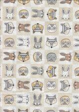 Doodle Days - Heads - 100% cotton Half Metre - 50 x 110 cms