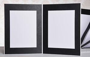 Bildermappe / Leporello für 50 Fotos 13x18 - schwarz auf weißem Grund - S500