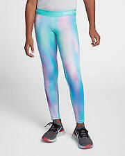 Nike Pro Warm Girls Printed Tights Size 12-13 Yrs Multi Print *REF41
