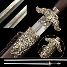 double Dragon Tai Chi soft Sword Martial arts training Stainless Steel new #002
