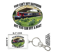 CANAL BOAT KEYRING You Can't Buy Happiness But You Can Buy A Boat.  NARROW BOAT