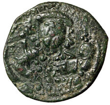 """Christ Portrait Byzantine Coin of Michael Vii Ducas """"Stars"""" Certified With Coa"""