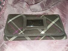 vintage aeropostale womens clutch wallet zipper pockt C.C. holders quilted brwn