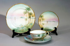 Antique Egyptian Nippon Cup & Saucer & Dish Set – Palm Trees & Pyramids