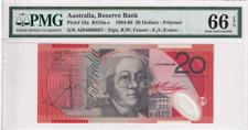 1994-96 Australia 20 Dollars P-53a PMG 66 EPQ Gem UNC
