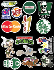 Weed Sticker pack #2 - 15 stickers per Set!  Weatherproof vinyl