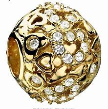 Chamilia Authentic 14K Gold Captured Hearts #2320-0001