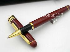 NEW OFFICE Red Wooden golden Pen clip Roller ball Pens