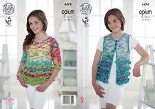 Girls Frilly Waistcoat Sweater Jumper Knitting Pattern King Cole Opium 4474