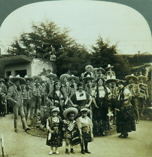 Keystone Stereoview Musicians & Dancers Pan-Pacific Expo San Francisco 1915 PPIE