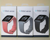 Fitbit Versa Smartwatch Fitness Activity Tracker with L S Band Black Gold Silver