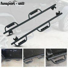 for 07-17 Jeep Wrangler JK & Unlimited 4 Door Side Steps Nerf Bars Guards Pads
