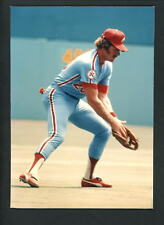 Mike Schmidt Press Original COLOR Photo 5 x 7 Philadelphia Phillies fielding