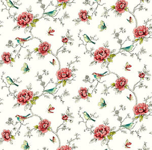 Dolls House Wallpaper 1/12th 1/24th scale Birds Quality Paper #308