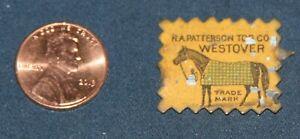 Tin Tobacco Tag, R. A. Patterson Tob. Co. Westover