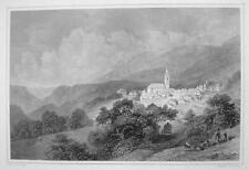 ITALY Caldaro Kaltern South Tyrol - 1870s Original Engraving Print