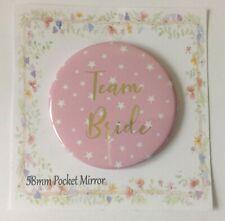 Pocket Mirror Team Bride  Bag Makeup Purse Birthday Party Wedding Hen