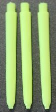 Three sets of Nylon Dart Stems - Fluro Yellow - Medium + Flight Protectors