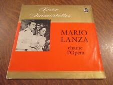 33 tours MARIO LANZA chante l'opera voix immortelles