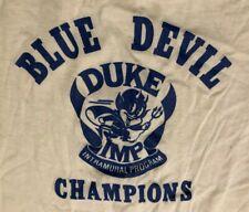 Duke Blue Devils Intramural Progam Champions White T-Shirt Men's Large EUC VTG
