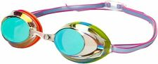 Speedo Vanquisher 2.0 Mirrored Swim Swimming Competition Goggle, Rainbow Brights