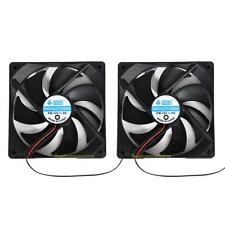 2pcs 120mm 120x25mm 12V 4Pin DC Brushless PC Computer Case Cooling Fan 1800PRM