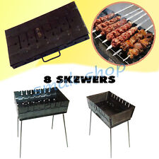 8 SKEWER MANGAL SCHASCHLIK GRILL BRAZIER BARBECUE CHAR GRILL CASE BBQ CHARGRILL