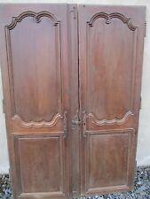 paire de porte en chêne louis XIV ancienne.