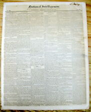 1844 newspaper w long detailed report WESTERN US EXPANSION via the OREGON TRAIL