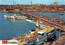 BR5011 Istanbul Galata bridge new mosque ans Suleymaniye ship bateaux   turkey