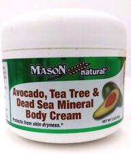 Mason Avocado, Tea Tree & Dead Sea Mineral Body Cream 2 oz