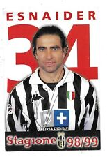 Juventus. Cartoncino Ufficiale 1998/99. Calciatore Esnaider. Forse autografata.