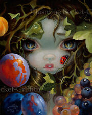 Stilleven 8 Jasmine Becket-Griffith CANVAS PRINT ladybug fairy pop big eye art