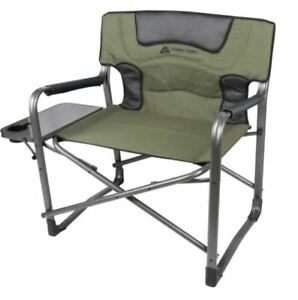 Big Boy XXL Folding Padded Director Camp Chair W/Side Table, 500-600 Lb Capacity