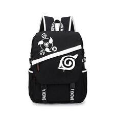 Uzumaki Naruto Akatsuki Sharingan Leaf Backpack Canvas Student Bag Rucksack Gift