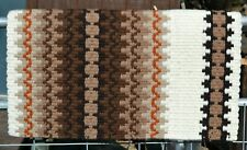"Mayatex Corona Show Saddle Blanket Pad 38"" x 34""- Cream/Brown/Tan/Rust"
