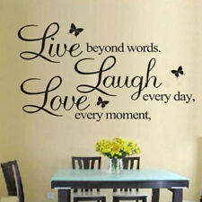 US Bedroom PVC Art PVC Wall Stickers Live Laugh Love Quote Vinyl Removable Decal