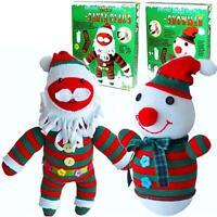 Père Noël Santa Make Your Propre Chaussette Puppet Enfants Peluche Couture Craft