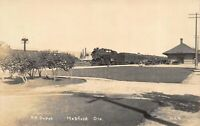 Real Photo Postcard Southern Pacific Railroad Depot in Medford, Oregon~121544