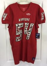 Rawlings Warriors #54 Service Pro Cut Red Football Jersey Adult Size M New!