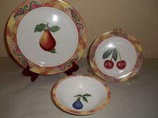 12pc Vintage EPOCH NORITAKE Somerville Dinnerware E107 Fruit Plates & Bowls