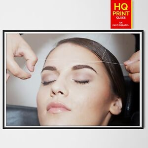 Eyebrow Threading Beauty Therapy advertising poster   A4 A3 A2 A1  