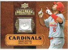 2008 Upper Deck ALBERT PUJOLS # 6 Ballpark Collection Jersey Buttons #d 10/25