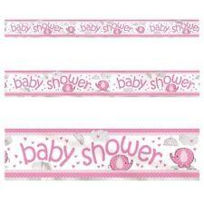 Unique Party 12 FT Pink Umbrellaphants Baby Shower Banner
