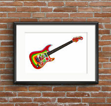 George Harrison's Fender Stratocaster Rocky guitar POSTER PRINT A1 size
