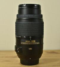 NIKON DX AF-S NIKKOR 55-300MM 1:4.5-5.6G ED VR LENS WITH LENS CAPS & UV FILTER